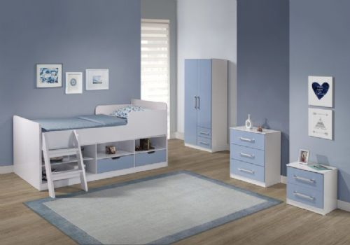Jasper Low Sleeper (Blue Gloss/White)